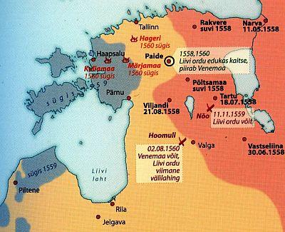Jõudude vahekord 1558-1560.