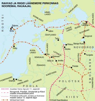 Rahvad ja riigid Läänemere piirkonnas nooremal rauaajal.