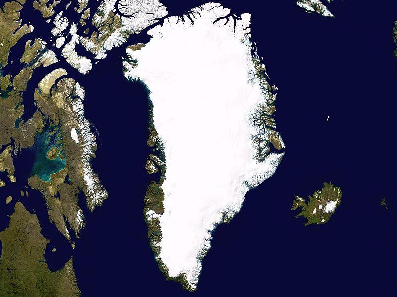 Satelliidipilt Gröönimaast.