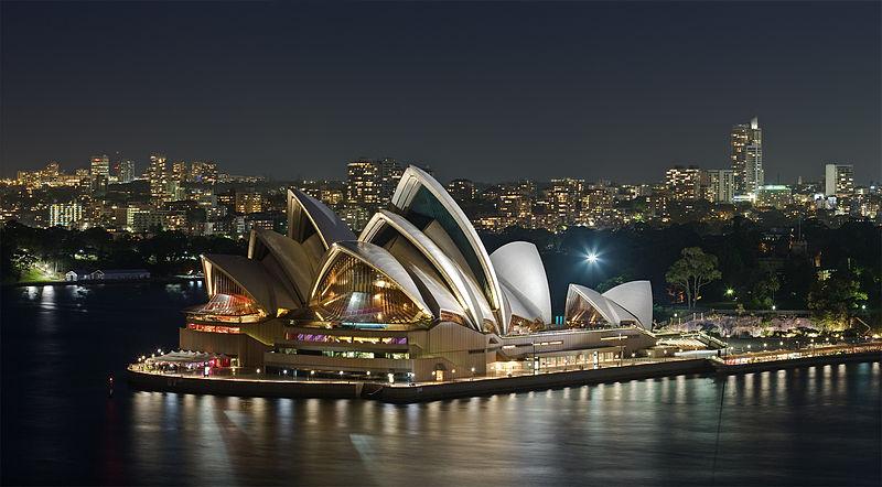 Sydney kuulus ooperihoone.