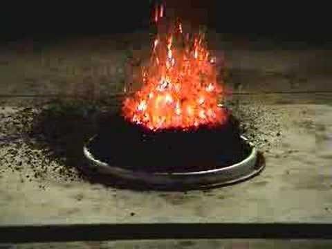 Ammooniumdikromaadi lagunemine on eksotermiline reaktsioon