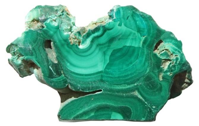 Malahiit on ilusa rohelise värvusega kivim