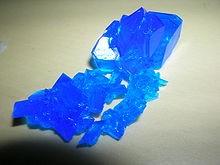 Vaskvitrioli kristallid on ilusat sinist värvi