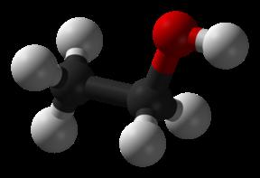 Etanooli molekuli mudel