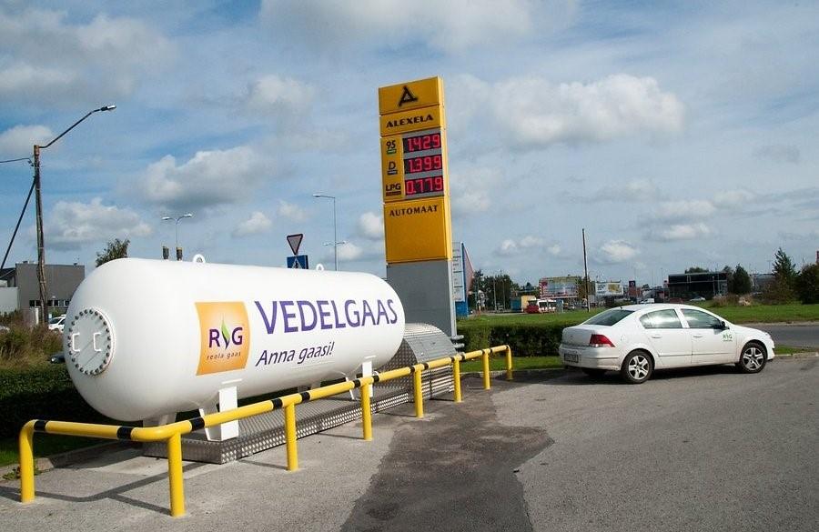 Vedelgaasi kasutatakse ka autokütusena