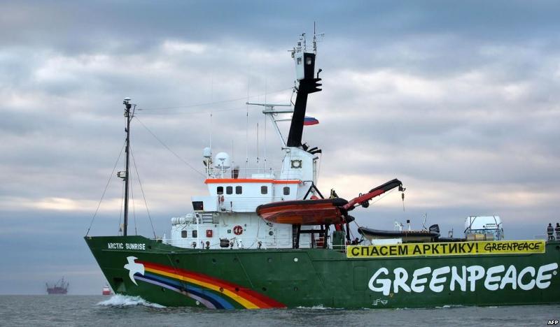 Keskkonnaprobleemidega tegeleva ühingu Greenpeace laev Rainbow Warrior