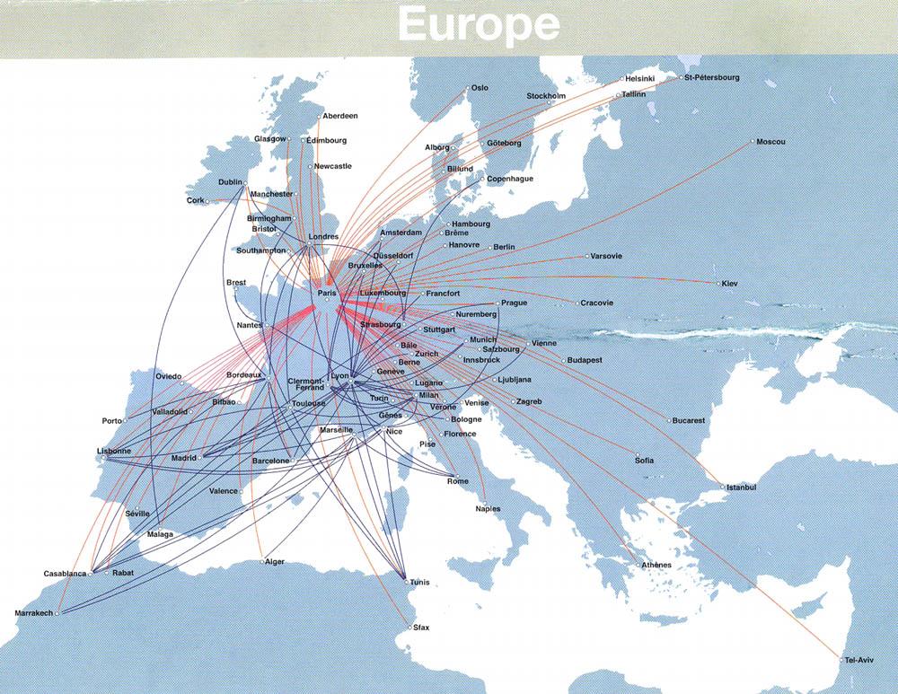 Prantsusmaa lennuliikluse kaart