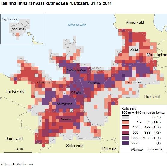 Rahvastiku tihedus Tallinnas