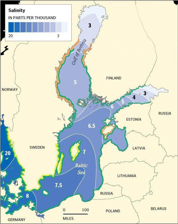 Merevee soolsus Läänemeres