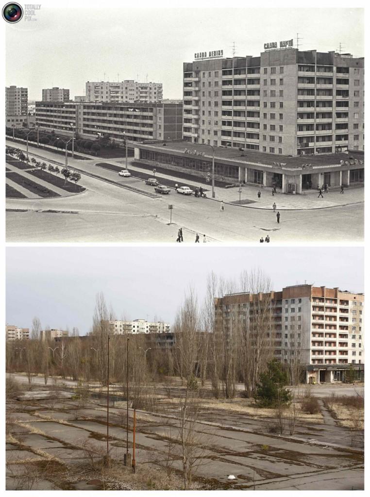 Linn Tšernobõli lähistel enne ja pärast õnnetust