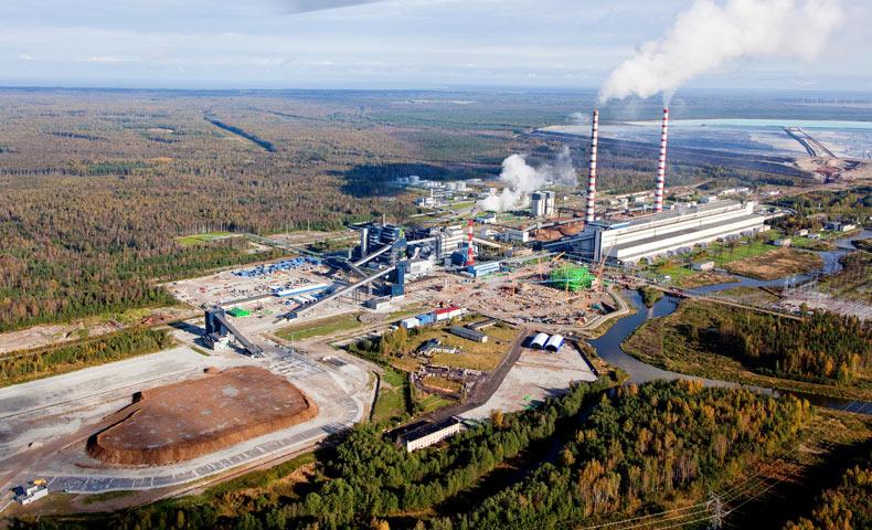 Eesti energia kompleks, lisandub Auvere elektrijaam (pildil roheline karkass)