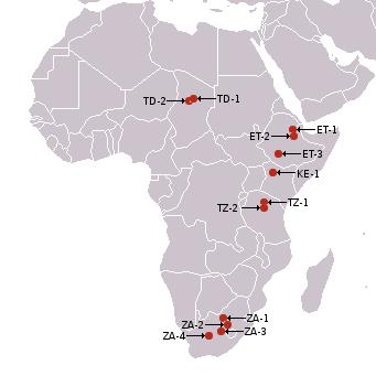 Africa,_australopitecines_discovery_sites