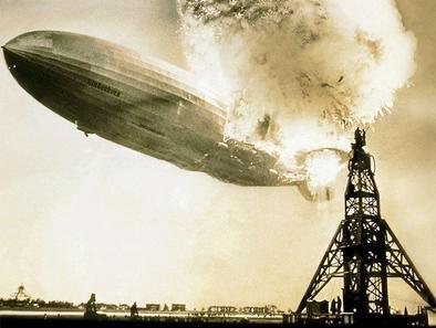 Hindenburgi õhulaevas plahvatas vesinik