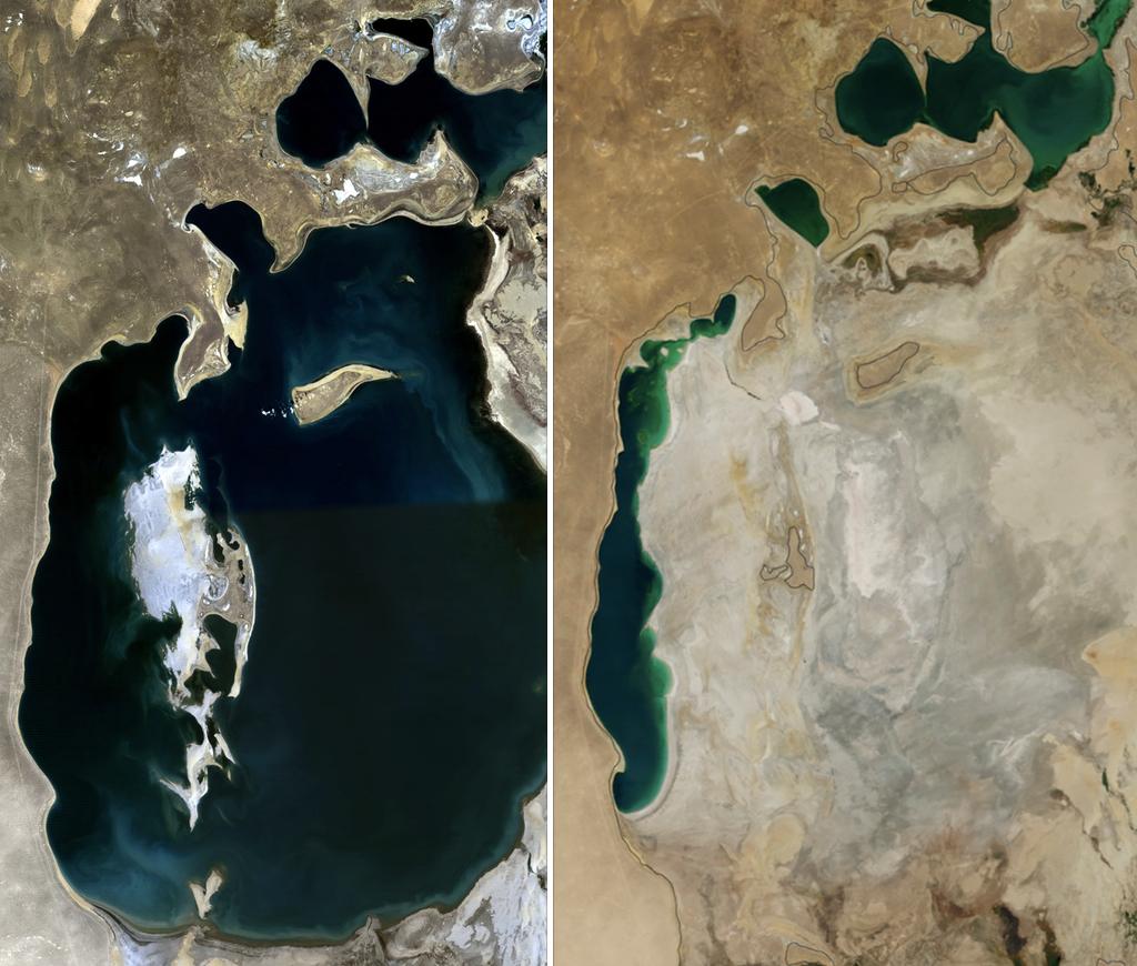 Araali meri 1989 ja 2014