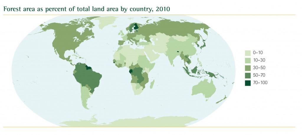 Metsasuse pindala riigi pindala suhtes