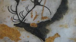 Koopamaalingud umbes 16000 aastat vanad Prantsusmaal, Lascaux. Must värv on tehtud mangaandioksiidiga