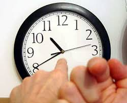 point the clock