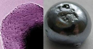 Elektronmikroskoop pilt osmiumist