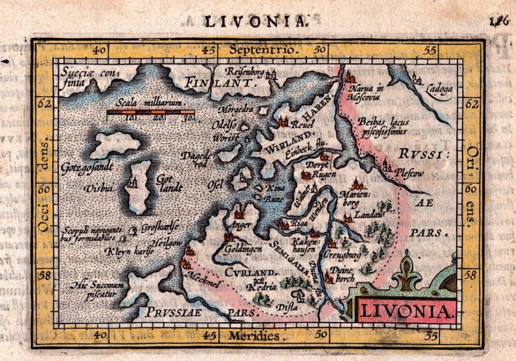 Liivimaa kaart, 15.-16. sajand