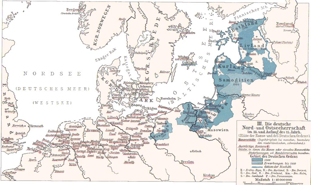 Läänemeräärsed Saksa hansalinnad ja Saksa ordu valdused