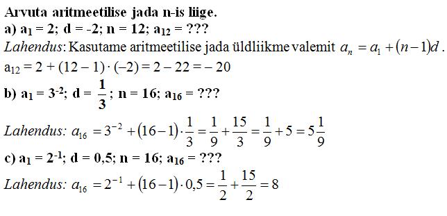 aritmeetiline jadaNäide2