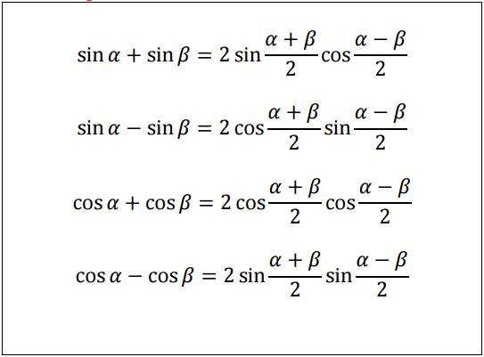 Trigonomeetriasummajavaheteisendamine